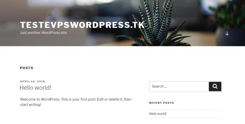 configurando site wordpress com sucesso