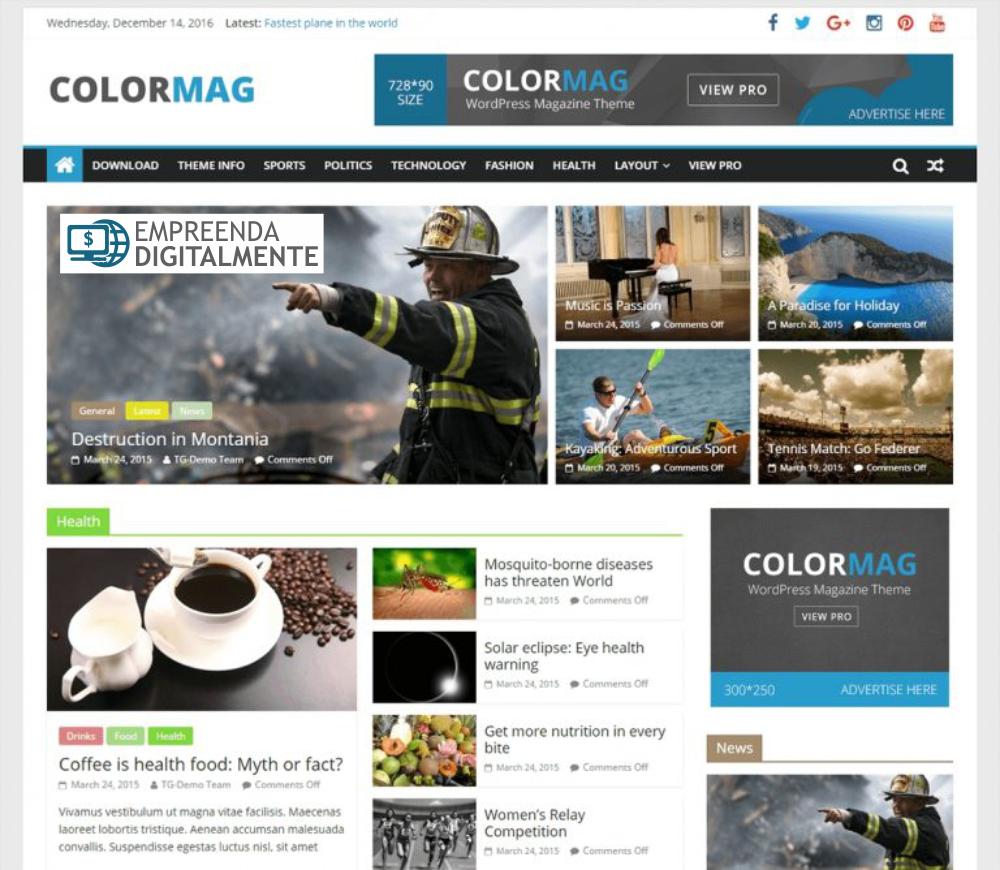 template wordpress colormag