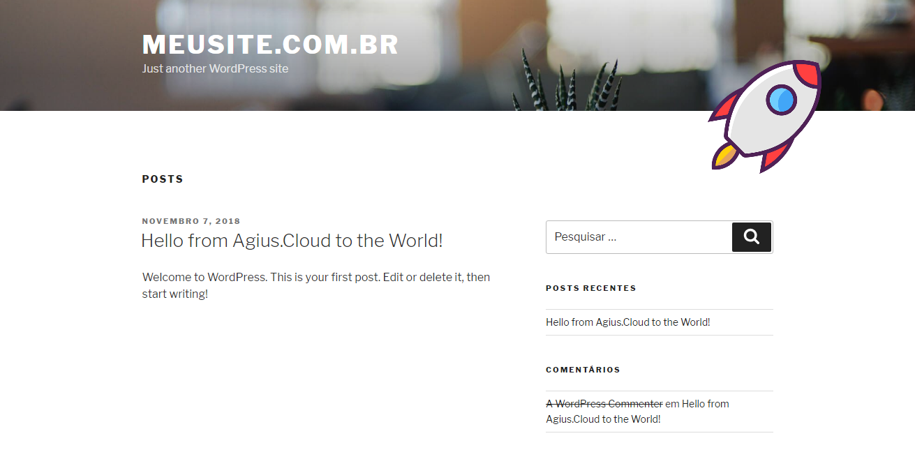 site blog pronto em 5 minutos