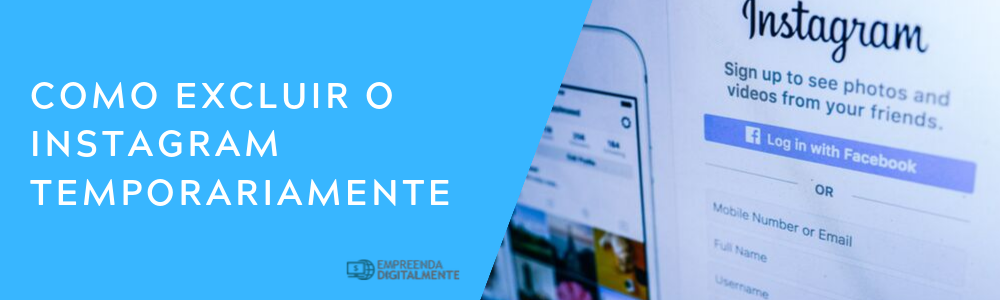 como excluir o instagram temporariamente