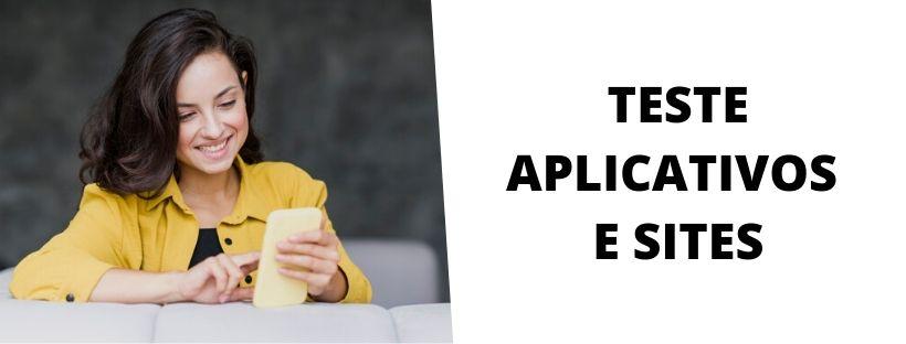 Teste Aplicativos e Sites